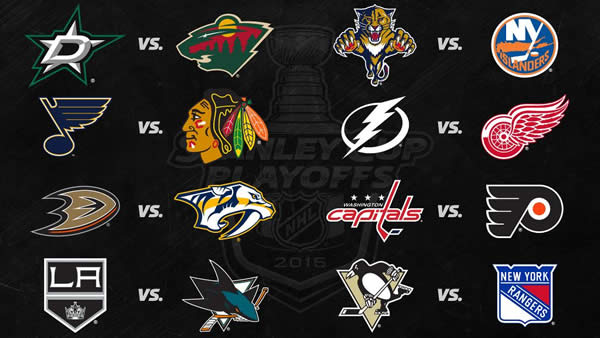 2016 NHL Stanley Cup Playoffs Bracket