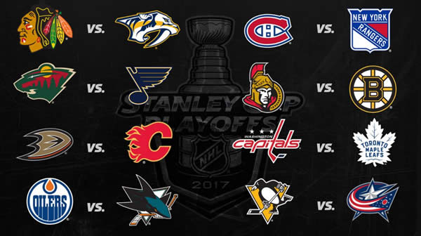 2017 NHL Stanley Cup Playoffs Bracket